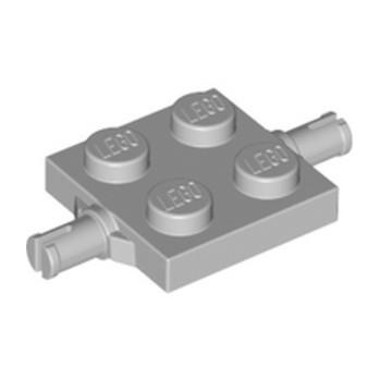 LEGO 4211504 BEARING ELEMENT 2X2, DOUBLE - MEDIUM STONE GREY