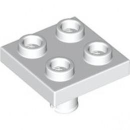 LEGO 6313603 PLATE 2X2 INVERTED W. SNAP - WHITE