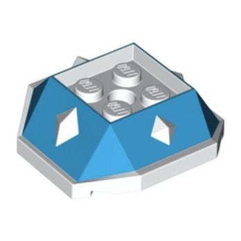 LEGO 6341867 DESIGN BRICK 4X4 W/CUT ANGLE - DARK AZUR
