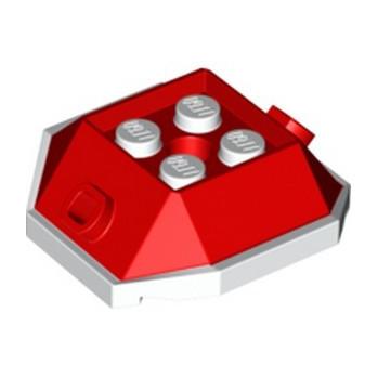LEGO 6330900 DESIGN BRICK 4X4 W/CUT ANGLE - RED