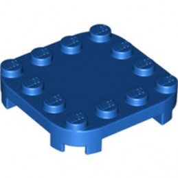 LEGO 6308879 PLATE 4X4X2/3 CIRCLE W/ REDUCED KNOBS - BLUE