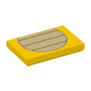 LEGO 6334668 FLAT TILE 2X3, PRINTED - YELLOW
