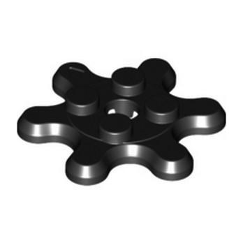 LEGO 6306064 GEAR WHEEL 2X2, Z6 - BLACK