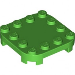 LEGO 6308875 PLATE 4X4X2/3 CIRCLE W/ REDUCED KNOBS - BRIGHT GREEN