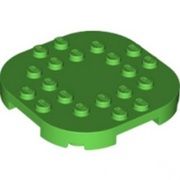 LEGO 6301631 PLATE, 6X6X2/3 CIRCLE W/ REDUCED KNOBS - BRIGHT GREEN