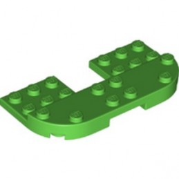 LEGO 6340682 PLATE 8X4X2/3, 1/2 CIRCLE, CUT OUT - BRIGHT GREEN