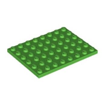 LEGO 6340684 PLATE 6X8 - BRIGHT GREEN