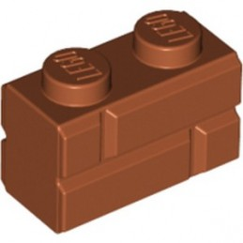 LEGO 6314383 BRICK 1X2 - DARK ORANGE