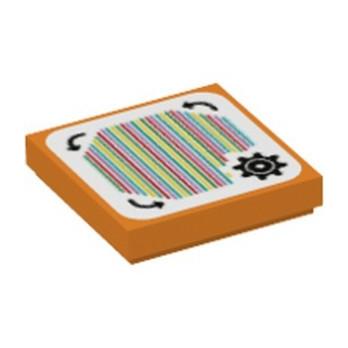 LEGO 6338145 PLATE 2X2, PRINTED SUPER MARIO - ORANGE