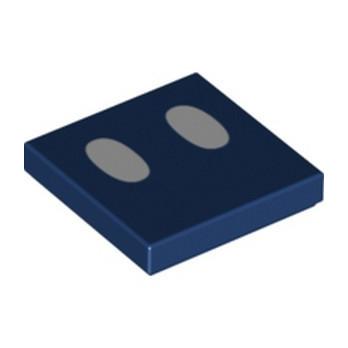 LEGO 6308929 FLAT TILE 2X2, PRINTED - EARTH BLUE
