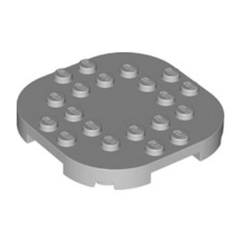 LEGO 6299919 PLATE, 6X6X2/3 CIRCLE W/ REDUCED KNOBS - MEDIUM STONE GREY