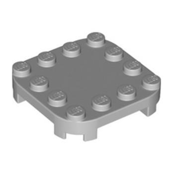 LEGO 6294703 PLATE 4X4X2/3 CIRCLE W/ REDUCED KNOBS - MEDIUM STONE GREY