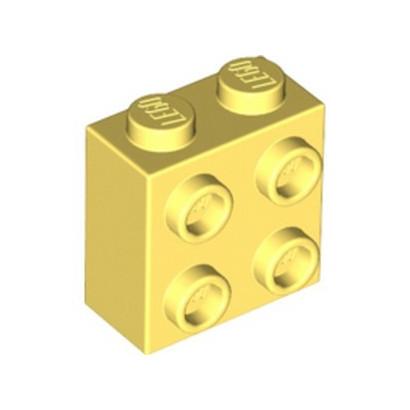 LEGO 6316264 BRICK 1X2X1 2/3 W/4 KNOBS  - COOL YELLOW