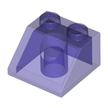 LEGO 6331105 ROOF TILE 2X2/45° - TRANSPARENT PURPLE