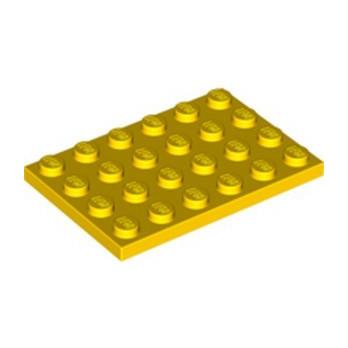 LEGO 303224 PLATE 4X6 - YELLOW