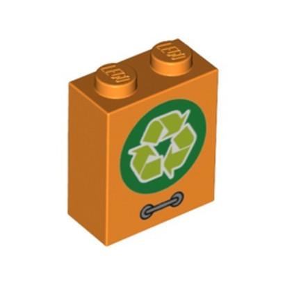 LEGO 6253136 BRICK 1X2X2, PRINTED - ORANGE
