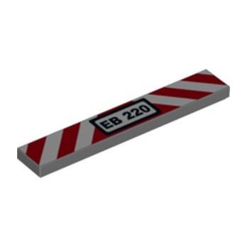 LEGO 6252561 FLAT TILE 1X6, PRINTED - DARK STONE GREY