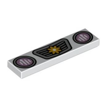 LEGO 6346806 FLAT TILE 1X4, PRINTED - WHITE