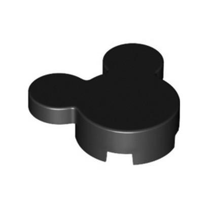 LEGO 6336633 DESIGN BRICK 3X4X 2/3 MICKEY'S HEAD - BLACK