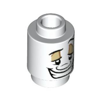 LEGO 6300113 BRICK ROUND 1X1, PRINTED - WHITE