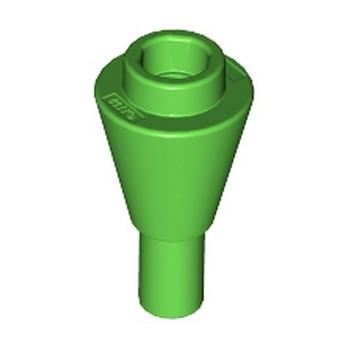 LEGO 6331087 CONE 1X1 INVERTEDE W. SHAFT - BRIGHT GREEN