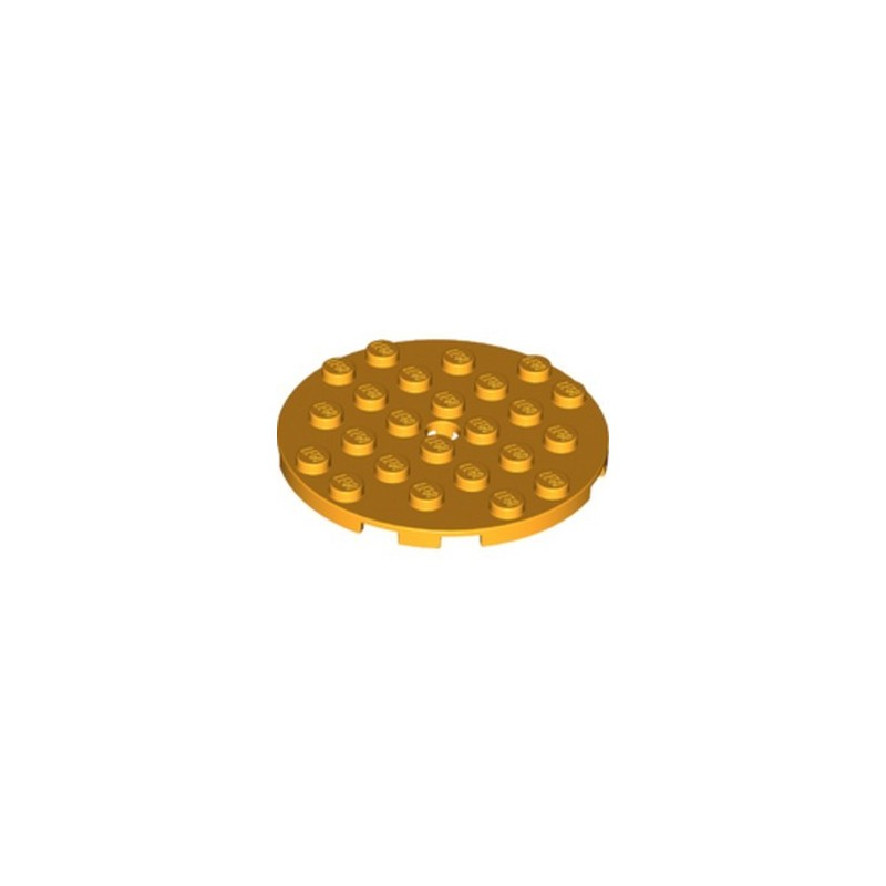 LEGO 6131694 PLATE ROUND 6X6 - FLAME YELLOWISH ORANGE