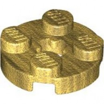LEGO 6340546 PLATE 2X2 ROUND - WARM GOLD