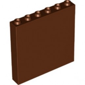 LEGO 6318733 WALL ELEMENT 1X6X5 - REDDISH BROWN