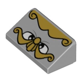 LEGO 6347955 ROOF TILE 1X2 31°, PRINTED - MEDIUM STONE GREY