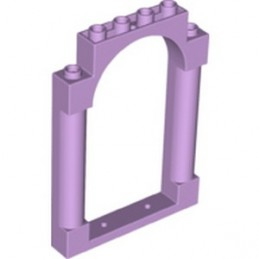 LEGO 6343761 WALL 1X6X7 WITH ARCH - LAVENDER
