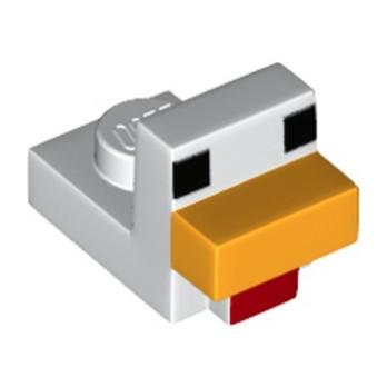 LEGO 6217227 BRICK 1X1 PRINTED HEAD MINECRAFT - WHITE