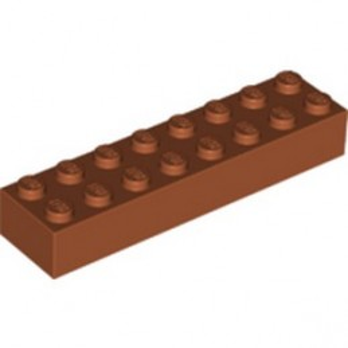 LEGO 6351290 BRICK 2X8 - DARK ORANGE