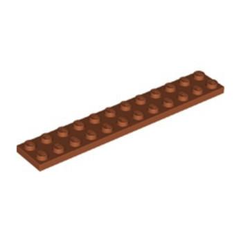 LEGO 6351289 PLATE 2X12 - DARK ORANGE