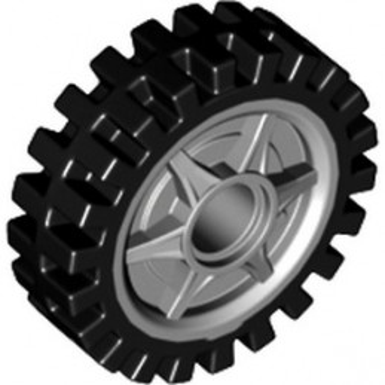 LEGO 6336638 WHEEL Ø24X7 - MEDIUM STONE GREY