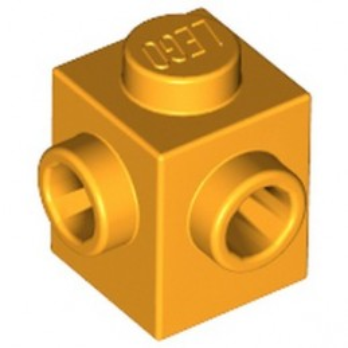LEGO 6292415 BRICK 1X1, W/ 2 KNOBS - FLAME YELLOWISH ORANGE
