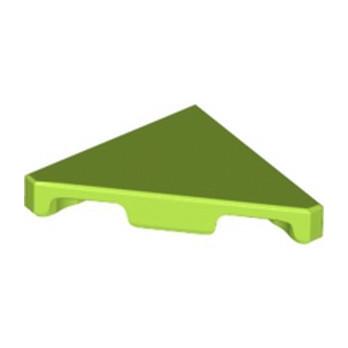 LEGO 6247209 FLAT TILE 2X2 45° - BRIGHT YELLOWISH GREEN