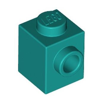 LEGO 6213781 BRICK 1X1 W. 1 KNOB - BRIGHT BLUEGREEN