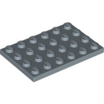 LEGO 6350058 PLATE 4X6 - SAND BLUE