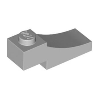 LEGO 6329117 BRICK 1X3,OUTSIDE HALF ARCH,W/ CUTOUT - MEDIUM STONE GREY