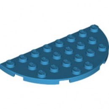LEGO 6346350 1/2 CIRCLE PLATE 4X8 - DARK AZUR