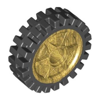 LEGO 6344199 WHEEL Ø24X7 - WARM GOLD