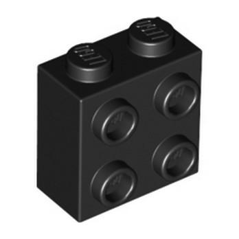 LEGO 6275806 BRICK 1X2X1 2/3 W/4 KNOBS - BLACK