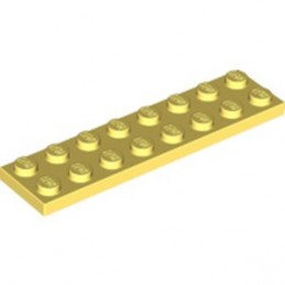 LEGO 6349769 PLATE 2X8 - COOL YELLOW