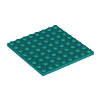 LEGO 6344002 PLATE 8X8 - BRIGHT BLUEGREEN