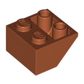 LEGO 6187575 ROOF TILE 2X2/45 INV - DARK ORANGE