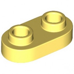 LEGO 6296501 PLATE 1X2, ROUND - COOL YELLOW