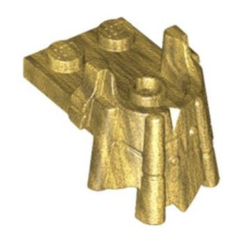 LEGO 6258033 PLATE 2X2 W/ BEARD MINIFIGUNE FIGURE - WARM GOLD