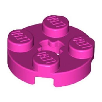 LEGO 6326495 PLATE 2X2 ROUND - DARK PINK