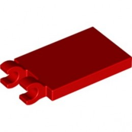 LEGO 6360130 PLATE 2X3 W. HOLDER - RED