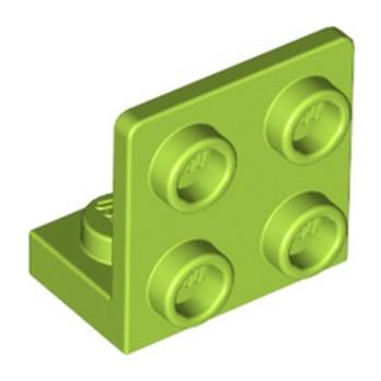 LEGO 6310277 ANGULAR PLATE 1.5 BOT. 1X2 22 - BRIGHT YELLOWISH GREEN